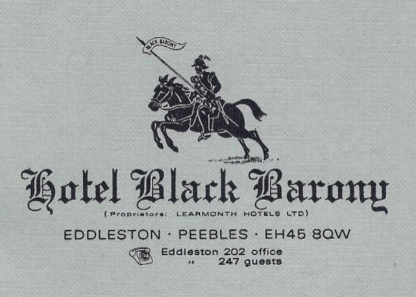 Hotel Black Barony letterhead, 1970s