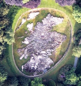 Aerial view of Mapa Scotland taken from a hot-air balloon in the Spring of 2013