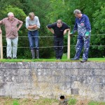 Mapa Scotland members wait for water to return to the map for the first time in over three decades