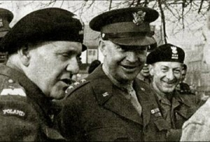 General  Maczek with U.S. General Eisenhower