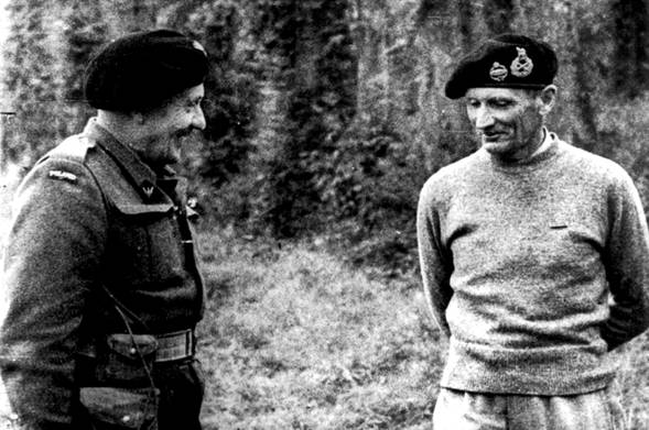 Generals Maczek and Montgomery in conversation