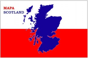 Mapa Scotland flag logo