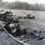 Abandoned German vehicles at Falaise